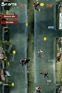 Screenshots of the Run or Die: Zombie City Escape game for iPhone, iPad or iPod.