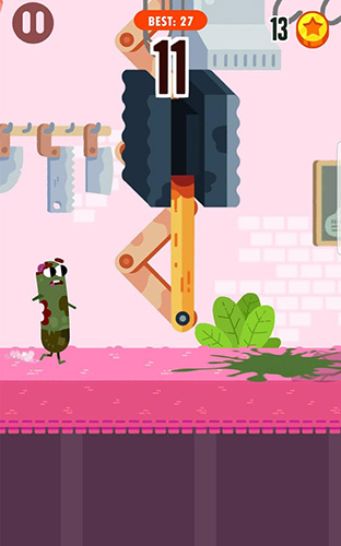 Screenshots of the Run, sausage, run! game for iPhone, iPad or iPod.