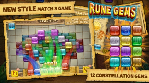 Screenshots of the Rune Gems – Deluxe game for iPhone, iPad or iPod.