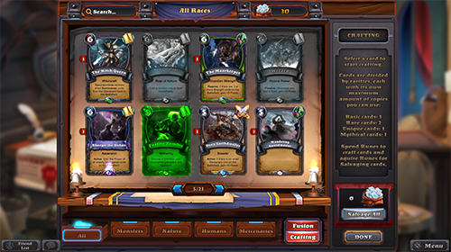 Capturas de pantalla del juego Runewards: Strategy сard game para iPhone, iPad o iPod.