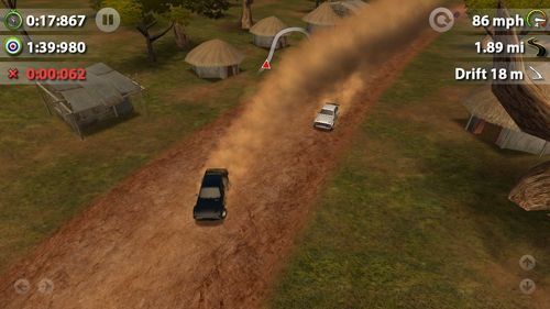 Screenshots of the Rush rally game for iPhone, iPad or iPod.