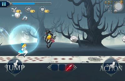 Screenshots of the Rushing Alice game for iPhone, iPad or iPod.