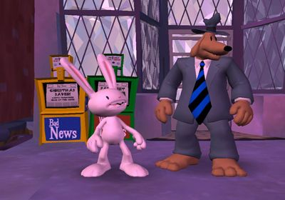 Screenshots vom Spiel Sam & Max Beyond Time and Space Episode 2.  Moai Better Blues für iPhone, iPad oder iPod.