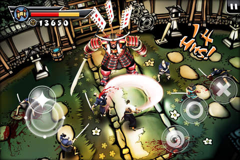 Screenshots of the Samurai 2: Vengeance game for iPhone, iPad or iPod.