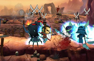 Screenshots of the Samurai vs Zombies Defense 2 game for iPhone, iPad or iPod.