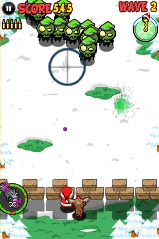 Descarga gratuita de Santa vs. zombies para iPhone, iPad y iPod.