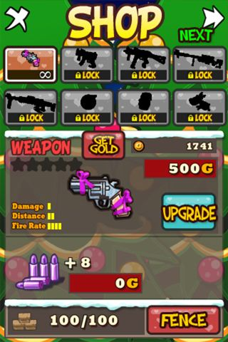 Capturas de pantalla del juego Santa vs. zombies para iPhone, iPad o iPod.