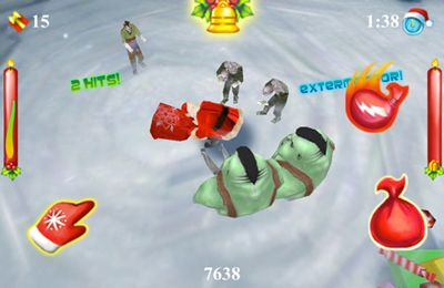 Free Santa vs Zombies 3D download for iPhone, iPad and iPod.