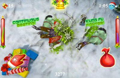 Screenshots of the Santa vs Zombies 3D game for iPhone, iPad or iPod.