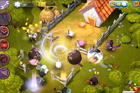 Capturas de pantalla del juego Save our sheep para iPhone, iPad o iPod.