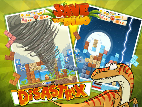 Free Save The Dino download for iPhone, iPad and iPod.