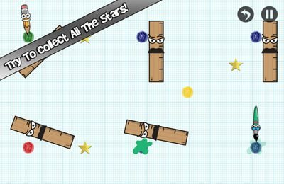 Screenshots vom Spiel Save the pencil für iPhone, iPad oder iPod.