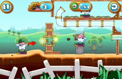 Capturas de pantalla del juego Saving Private Sheep 2 para iPhone, iPad o iPod.