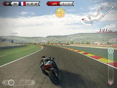 Геймплей SBK14: Official mobile game для Айпад.