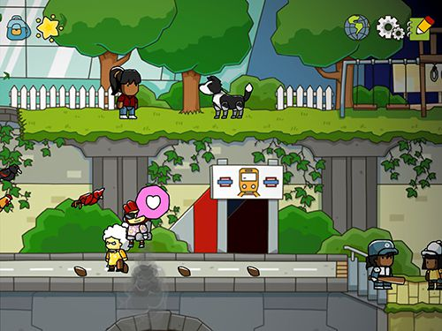 Capturas de pantalla del juego Scribblenauts: Unlimited para iPhone, iPad o iPod.