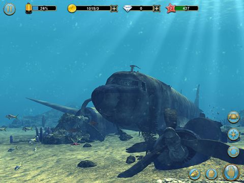 Écrans du jeu Scuba diver adventures: Beyond the depths pour iPhone, iPad ou iPod.