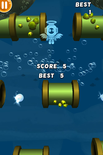 Screenshots of the Scuba dupa game for iPhone, iPad or iPod.