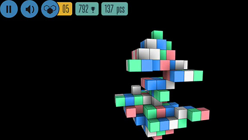 Écrans du jeu Sea of squares pour iPhone, iPad ou iPod.
