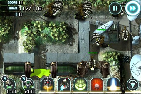 Capturas de pantalla del juego Sentinel 2: Earth defense para iPhone, iPad o iPod.