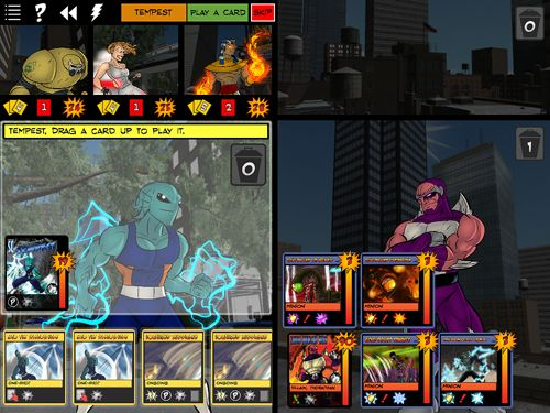 Écrans du jeu Sentinels of the Multiverse pour iPhone, iPad ou iPod.