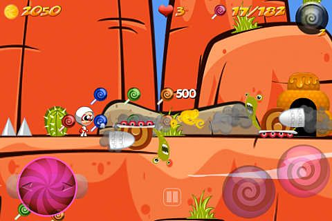 Screenshots vom Spiel Shadow candy: Sugar rush! für iPhone, iPad oder iPod.