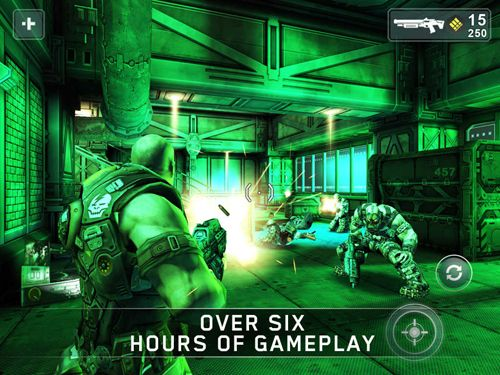 Capturas de pantalla del juego Shadowgun para iPhone, iPad o iPod.