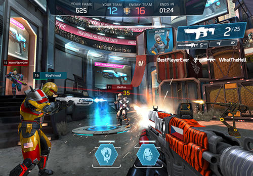 Screenshots of the Shadowgun legends game for iPhone, iPad or iPod.