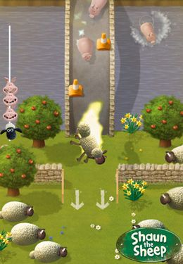 Screenshots vom Spiel Shaun the Sheep - Fleece Lightning für iPhone, iPad oder iPod.