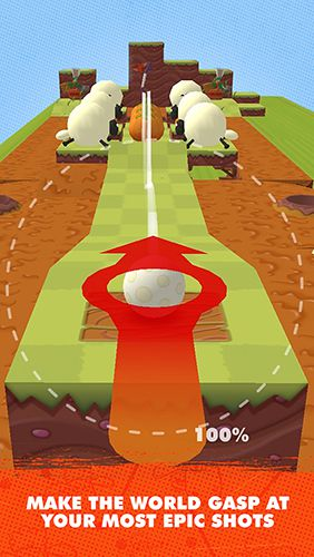 Screenshots vom Spiel Shaun the sheep: Puzzle putt für iPhone, iPad oder iPod.