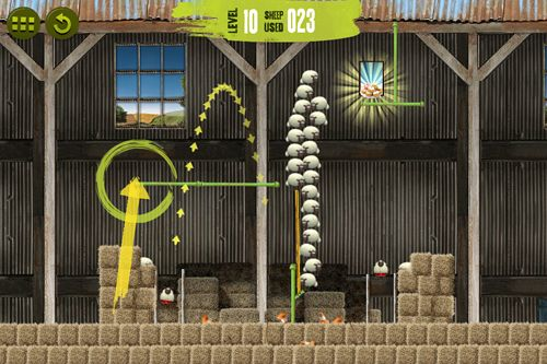 Écrans du jeu Shaun the Sheep: Sheep stack pour iPhone, iPad ou iPod.