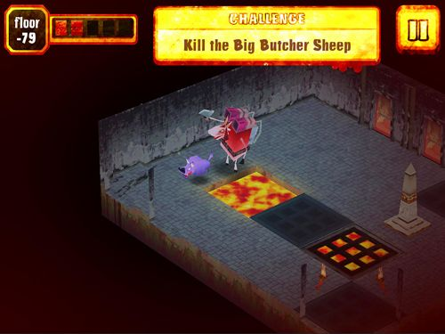 Screenshots vom Spiel Sheep in hell für iPhone, iPad oder iPod.