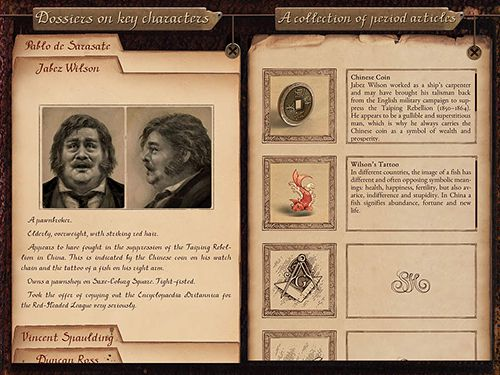 Screenshots vom Spiel Sherlock: Interactive adventure für iPhone, iPad oder iPod.