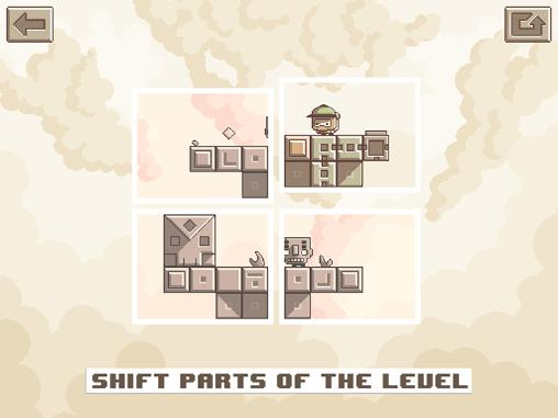 Screenshots of the Shifter game for iPhone, iPad or iPod.
