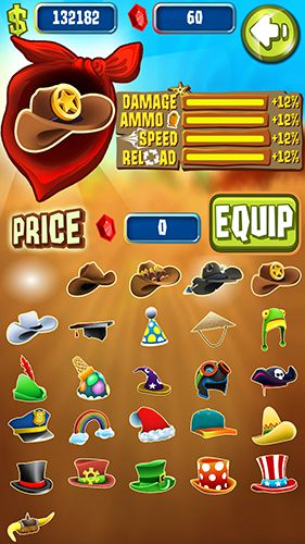 Screenshots of the Shoot and run: Western game for iPhone, iPad or iPod.