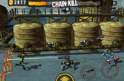 Screenshots of the Shoot Many Robots game for iPhone, iPad or iPod.