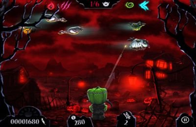 Screenshots vom Spiel Shoot The Zombirds für iPhone, iPad oder iPod.