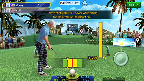 Écrans du jeu Shot online golf: World championship pour iPhone, iPad ou iPod.