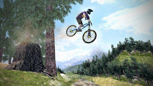 Screenshots of the Shred! Extreme mountain biking game for iPhone, iPad or iPod.