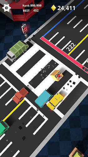 Геймплей Shuttle run: Cross the street для Айпад.