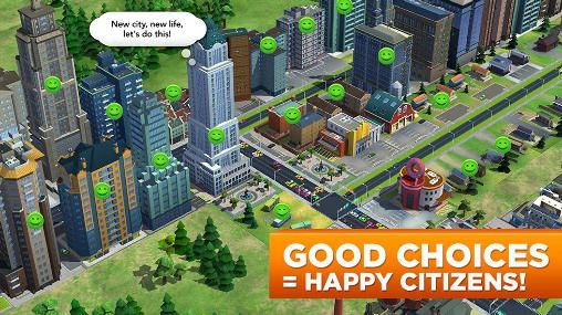 Геймплей Sim city: Build it для Айпад.
