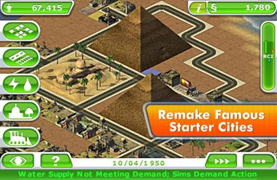 Capturas de pantalla del juego SimCity Deluxe para iPhone, iPad o iPod.