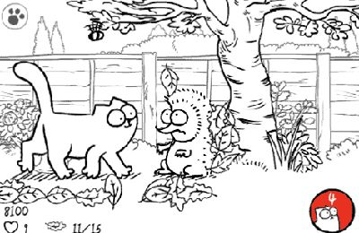 Capturas de pantalla del juego Simon's Cat in 'Cat Chat para iPhone, iPad o iPod.