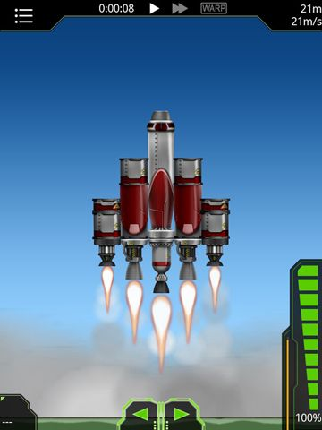 Screenshots vom Spiel Simple rockets für iPhone, iPad oder iPod.