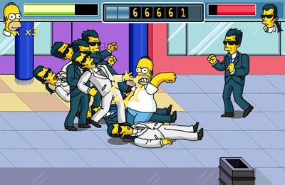 Capturas de pantalla del juego The Simpsons Arcade para iPhone, iPad o iPod.