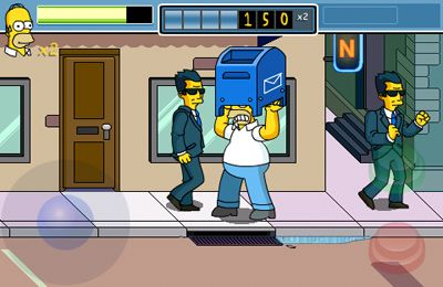 Screenshots do jogo The Simpsons Arcade para iPhone, iPad ou iPod.
