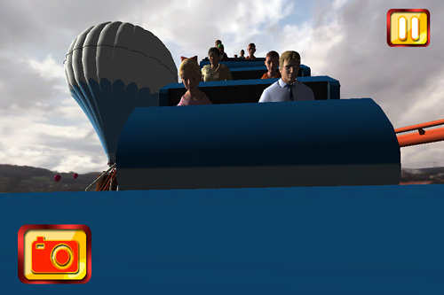 Capturas de pantalla del juego Simulate extreme roller coaster para iPhone, iPad o iPod.