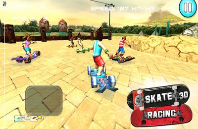 Descarga gratuita de Skate Racing 3D (Free Racing games) para iPhone, iPad y iPod.