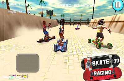 Capturas de pantalla del juego Skate Racing 3D (Free Racing games) para iPhone, iPad o iPod.