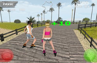 Screenshots of the Skatin Girlz game for iPhone, iPad or iPod.