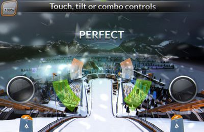 Capturas de pantalla del juego Ski Jumping para iPhone, iPad o iPod.